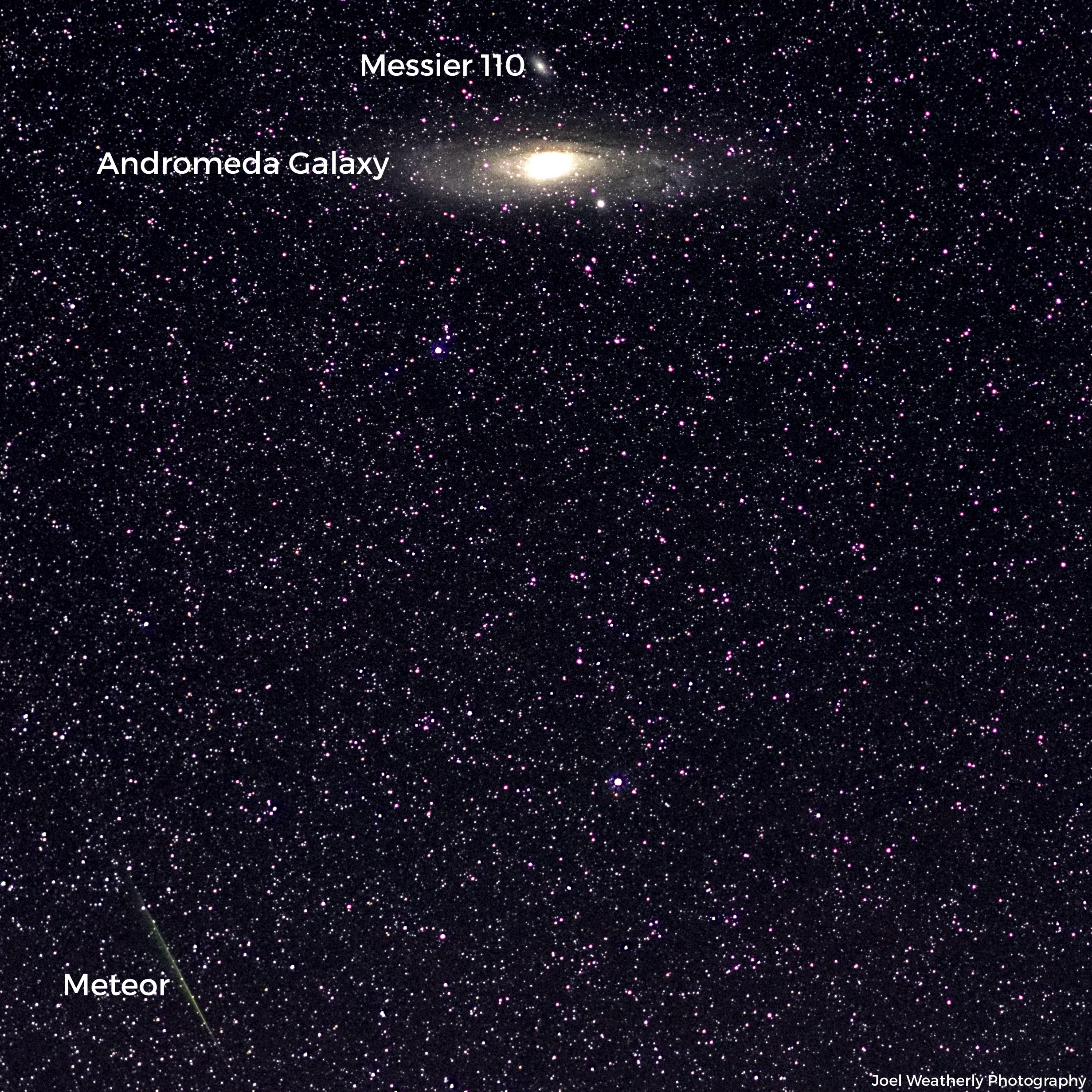 Andromeda and a meteor
