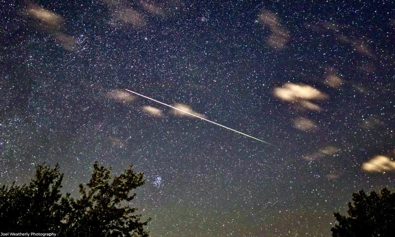 A bright Perseid meteor
